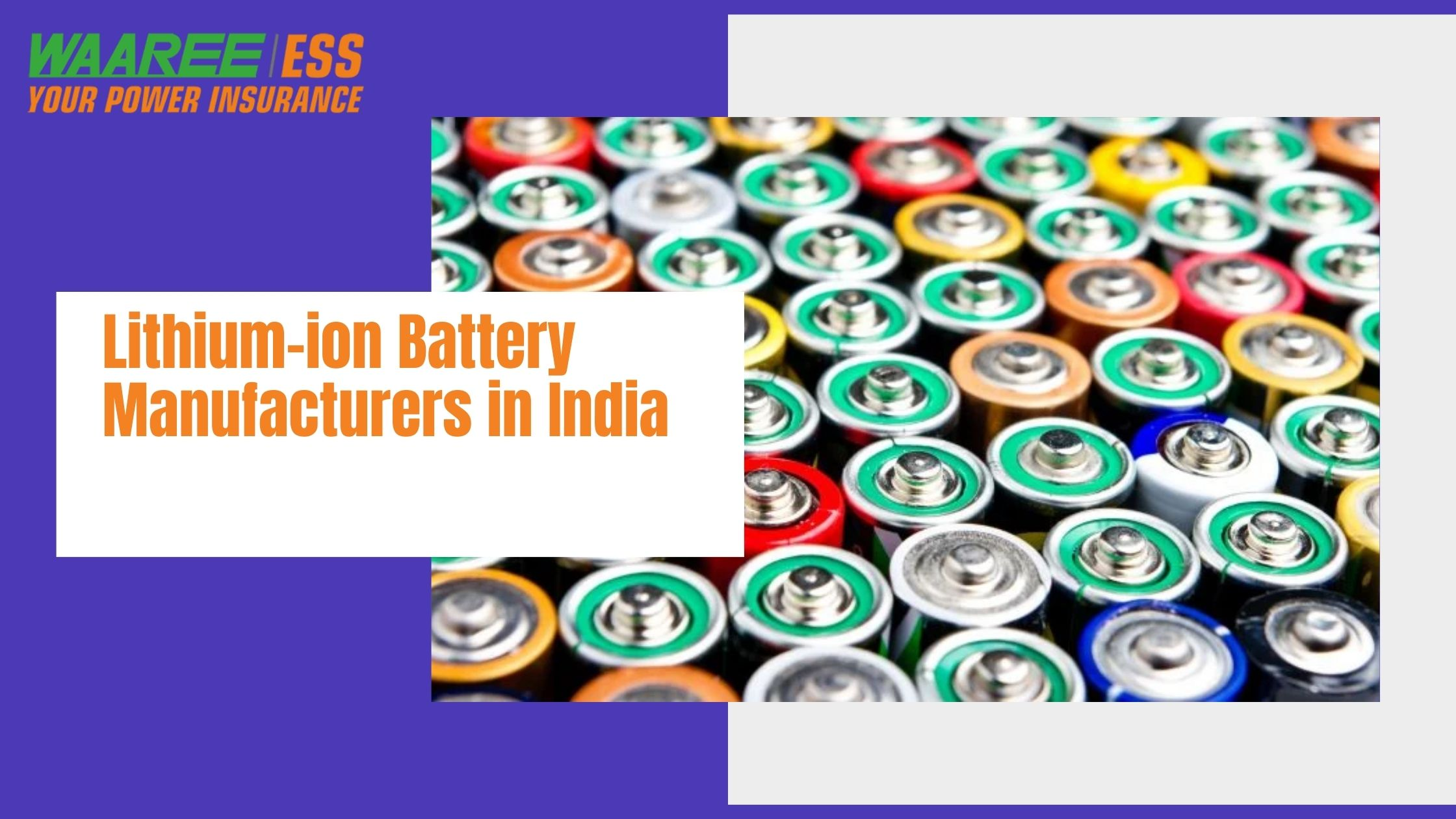 Top 5 Lithium-ion battery manufacturers in India