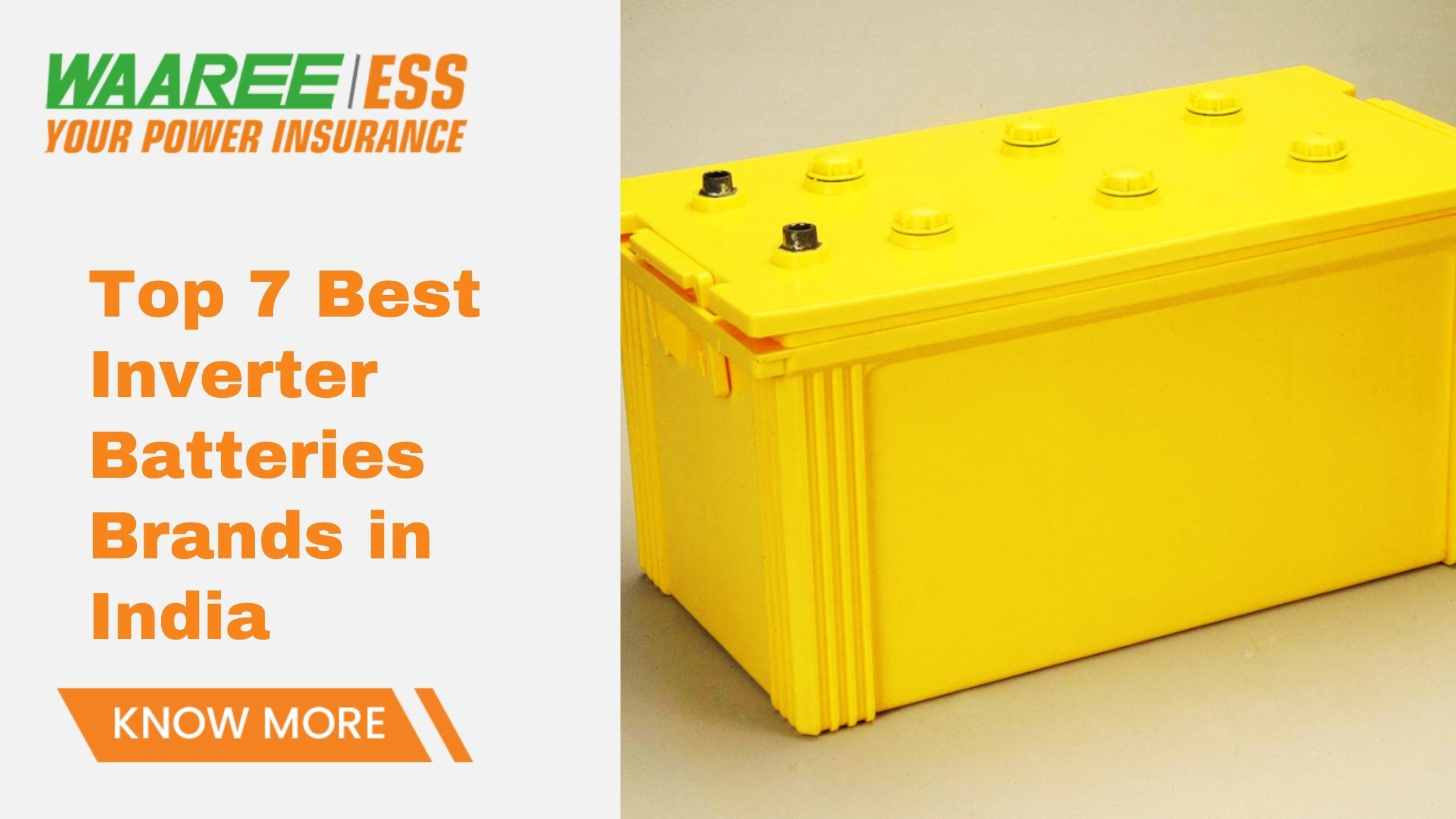 Top Inverter Battery Brand in India